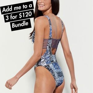 BECCA - Ladder Back Reversible One-Piece Swimsuit